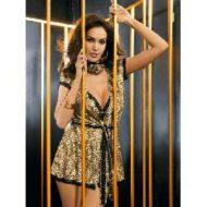 Peignoir ou deshabille leopard savage robe