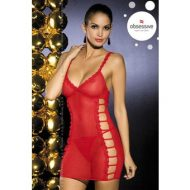 Peony chemise obsessive rouge robes lingerie courtes
