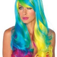 Perruque 1 piece multicolore leg avenue leg avenue taille unique perruques multicolore