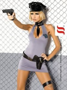 police dress costume obsessive gris policieretc
