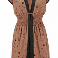 Robe 1 manche animale forplay marron robes courtes