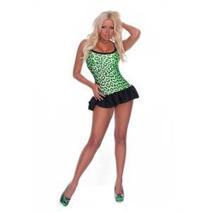 robe 2 tons leopard hustler lingerie leopard club wear