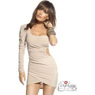 Robe ajouree 1 manche eve forplay chair robes courtes
