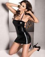 Robe beltis passion noir robes lingerie courtes