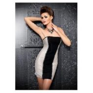 Robe bustier cotes resille argentes