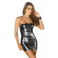 Robe bustier effet metallique forplay large robes courtes or