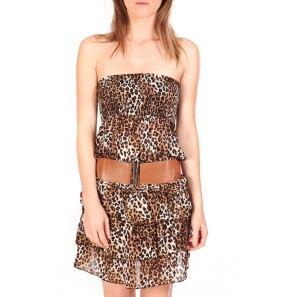 robe bustier leopard