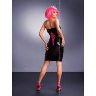 Robe bustier vinyle dos lace