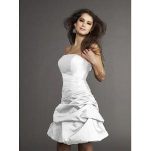 robe courte de soirée blanche