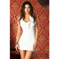 Robe courte imola a volants forplay forplay large robes courtes blanc