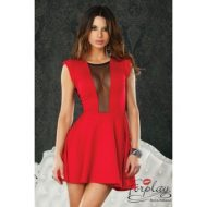Robe courte leon fluide forplay forplay large robes courtes rouge