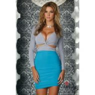 Robe courte mezdra manches longues forplay forplay large robes courtes turquoise