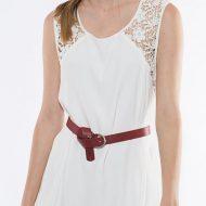 Robe courte novi avec bretelles strass forplay forplay large robes courtes blanc