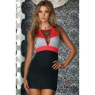 Robe courte ravenna tricolore forplay forplay large robes courtes corail