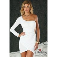 Robe courte spezia 1 manche forplay forplay large robes courtes blanc