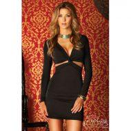 Robe courte stara avec bretelles strass forplay forplay large robes courtes noir