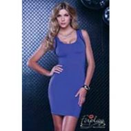 Robe epaule nue doublee de voile forplay bleu robes courtes