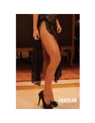 robe fente elegante hustler lingerie noir ensembles 2 et 3 pieces