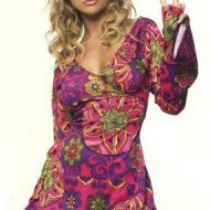 Robe hippie flash leg avenue multicolore mode retro
