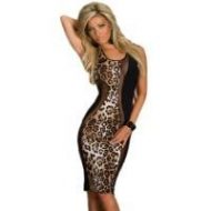 Robe leopard noir blanc hustler lingerie leopard noir et blanc club wear