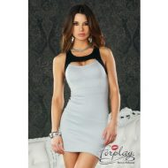 Robe lingerie ajouree manche longue leg avenue taille unique robes lingerie courtes noir