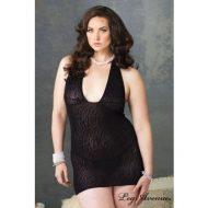 Robe lingerie micro resille leopard leg avenue noir robes lingerie courtes