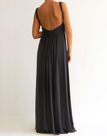 robe longue echancree et dos nu