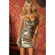 Robe lumiere de sequins forplay noir robes courtes