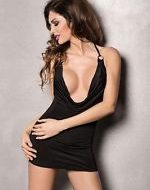 Robe miracle passion noir robes lingerie courtes