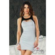 Robe moulante dos nu hustler lingerie noir robes lingerie courtes