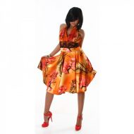 Robe satine orange
