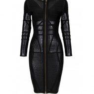 Robe sexy cuir synthetique