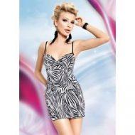 Robe sexy zebre dos lace