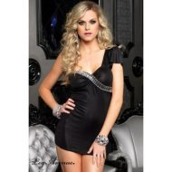 Robe spandex asymetrique leg avenue noir club wear