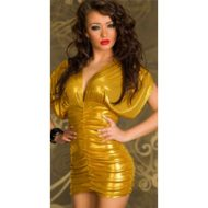 Robe tube sequins hustler lingerie noir club wear