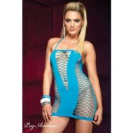 Robe v filet blacklight leg avenue noir club wear