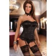 Scarlet beauty night noir bustiers et corsets