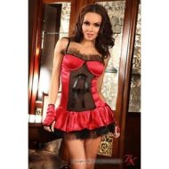 Scarlet red corset beauty night rouge bustiers et corsets
