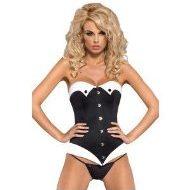 Servanta costume obsessive noir blanc costumes lingerie