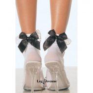 Soquettes classiques leg avenue blanc mi bas chaussettes sexy