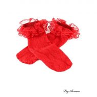Soquettes dentelle sur dentelle leg avenue rouge mi bas chaussettes sexy