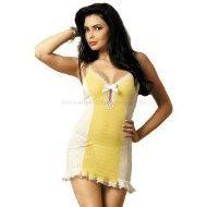 Sunsee chemise obsessive jaune blanc nuisettes