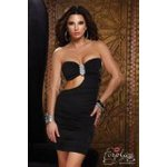 tenues sexy robe tube jewel noir forplay large