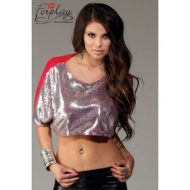 Top sequin et cape forplay noir hauts et tops